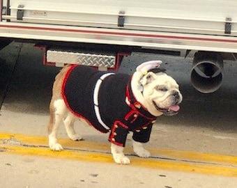 Usmc Bulldog Uniform - Usmc Dog Sweater - Dog Costume Sweater - Marine Dog Costume - Marine Dog Uniform - Marine Corps Dog Costume - Bulldog