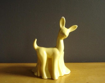 Doe, Re, Mi - Vintage Yellow Deer Planter