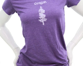 Oregon Fir - Soft lightweight T Shirt - Slim fit in scoop and Vneck