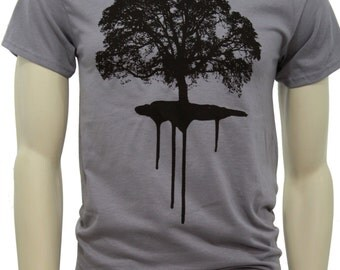 Tall sizes | Oak tree | Men's classic T Shirt | Dripping Roots | Sizes up to 3X Tall