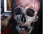 JEREMY WORST Skull 2013 Canvas Print Fine Art Print skulls zombie original scary dark goth gothic