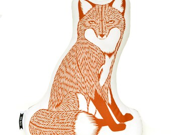fox pillow, fox plush, animal pillows, animal pillow, animal cushions, animal print pillows, fox plushie, fox throw pillow