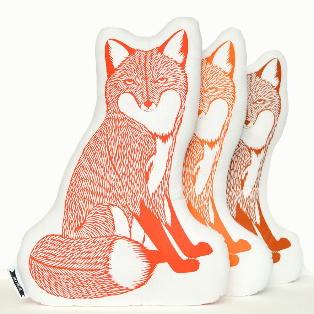 Animal Pillows : Fox plush fox pillow animal pillows animal pillow animal