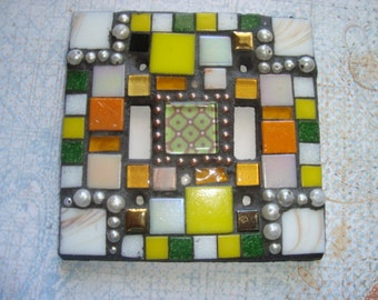 MOSAIC LIGHT SWITCH Plate Cover - Double, Multi-Colored
