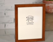 "8.5 x 11"" Picture Frame in 1x1 Flat Style and Color OF YOUR CHOICE - Letter Size Document Frame 8.5x11 - Wooden Frame Handmade"