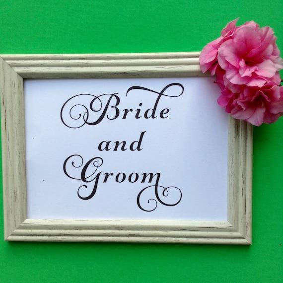 Printable Wedding Sign, Bride & Groom Reserved Sign, Wedding Reception