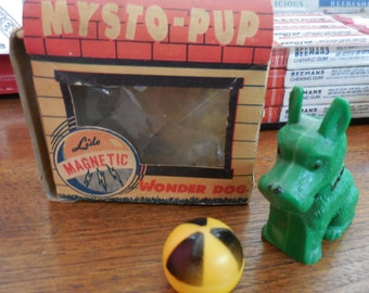 Rare LIDO magnetic vintage toy MYSTO PUP The Wonder Dog # 720