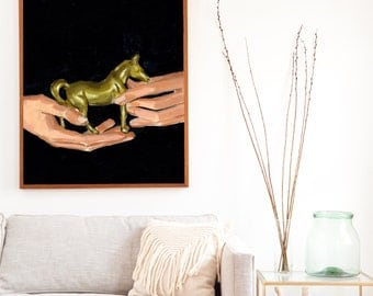 Tiny Pony .  extra large wall art . giclee print