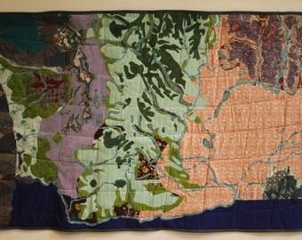 Washington State Map Applique Quilt