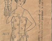 Vintage Mail Order Sewing Pattern 3674 / Edwardian Corset Cover / Brassiere / Lingerie / Size Small / Bust 34 To 36
