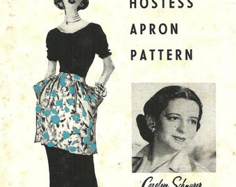 Vintage Sewing Pattern By Carolyn Schnurer / Universal Hostess Apron