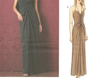 Vogue 2722 / Designer Sewing Pattern By Oscar de la Renta / Dress Gown / Sizes 8 10 12