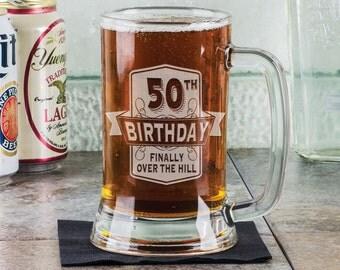 Happy Birthday 16 Oz Day Mason Jars Engraved 90th 80th 70th