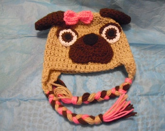 Pug Baby Hat-Darling, Exceptionally Sweet, Smiles from all!