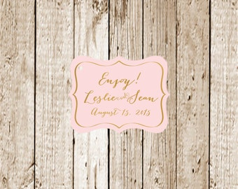 Gold Foil Printed Custom Printed Favor Tags 25 count