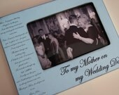 Mother of the Groom Gift, Parents Thank You Gift, Wedding Personalized Picture Frame