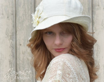 Linen Bucket Hat Women's Summer Sun Hat