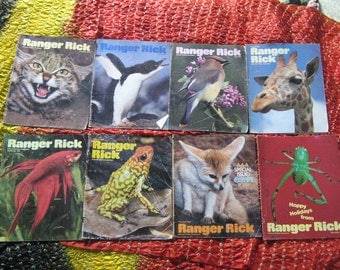 8 RANGER RICK MAGAZINES from 1987, Ranger Rick's Nature Magazine for Children 6 to 12, Wildlife, Animals, Nature, Environment