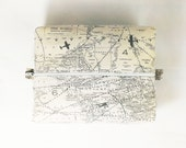 Airplane Map Toiletry Bag Makeup Travel Case