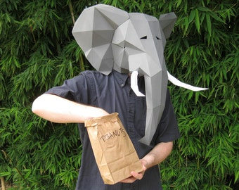 Make Your Own Elephant Mask with just Paper and Glue! | Animal Mask | Printable Mask | Papercraft Pattern