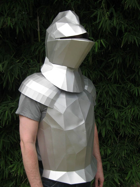 Make your own medieval knight helmet with just by for Paper knight helmet template