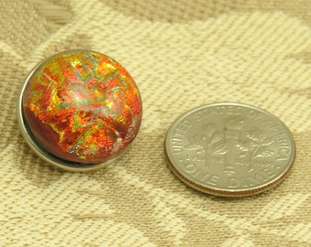 Fireball Dichro Shimmer Lampwork Popper/Chunk/Snap