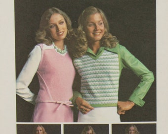 60s Butterick Sewing Pattern 6998 Misses Wrap-and-Go Sweater Sizes 8, 10 or 14 Uncut Factory Folded