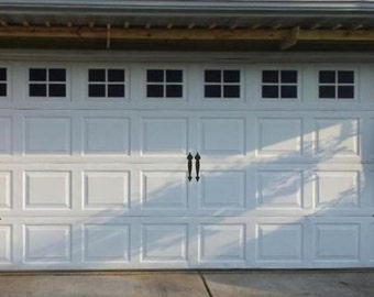 Garage Door Hinges and Handles Vinyl Decals - Garage Vinyl Decals - Carriage Door Decals - Outdoor Garage Door Vinyl Hinges and Handles