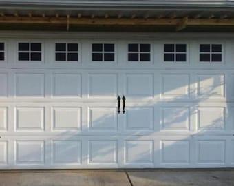 Garage Door Hinges and Handles Vinyl Decals - Garage Vinyl Decals - Faux Carriage Door Decals Outdoor Garage Door Vinyl Hinges and Handles