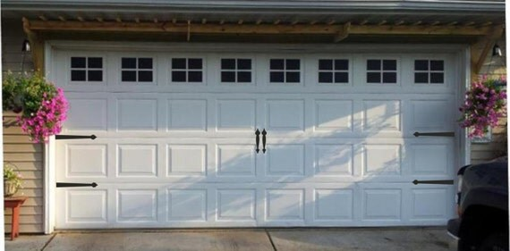 garage door handlesGarage Door Hinges and Handles Vinyl Decals Garage Vinyl