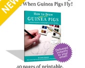 How to Draw Super Cute Guinea Pigs - Downloadable, Printable Drawing Book - eBook