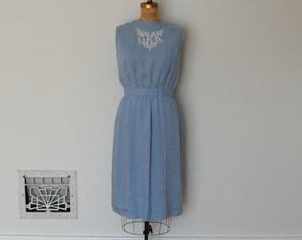 Vintage 50s Dress - 1950s Linen Dress - The Evelyn