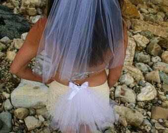 BACHELORETTE Las Vegas Party Veil SET, Bachelorette Bikini Veil and Head Veil SET of 2
