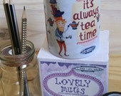 Alice in Wonderland mug, Mad Hatter mug, It's always time for tea