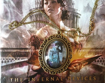 Will Herondale Pendant Cameo Necklace 30x40- Will Herondale Clockwork Angel The Infernal Devices Cassandra Clare Charm- Book Related Jewelry