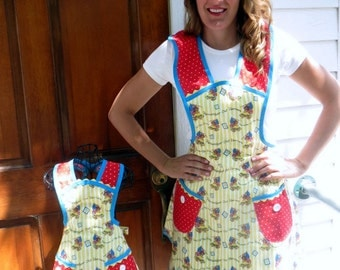 Matching Mother Daughter Apron Set Fourth of July Patriotic Aprons