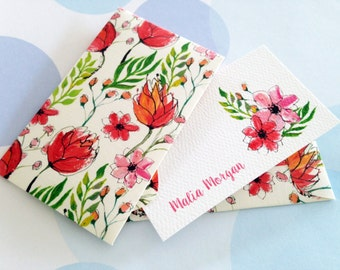 Personalized Gift Enclosure Card, Mini Cards and Envelopes, Set of 10