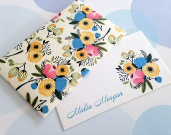 Personalized Card, Gift Enclosure Card, Mini Cards and Envelopes, Gift Card Holder, Set of 10