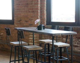 Bar table with pipe legs in your choice of sizes or finishes