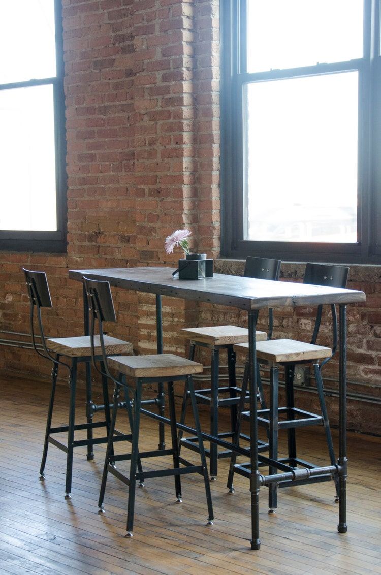 Bar Table With Pipe Legs In Your Choice Of Sizes By