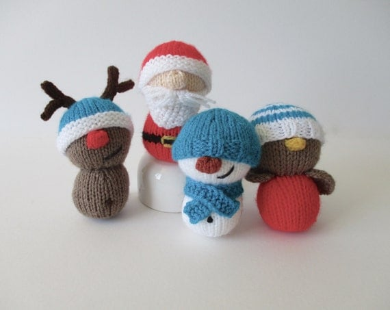 Dinky Christmas toys knitting patterns