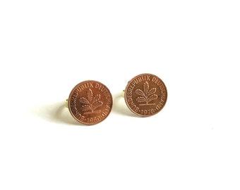 1950, 1977, 1978, 1980 German coin ring . Bundesrepublik Deutschland . germany coin jewelry