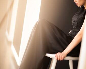 Felt dress - Fashion Evening Dresses - Black Formal Party Dress -  Evening Long Prom Dresses