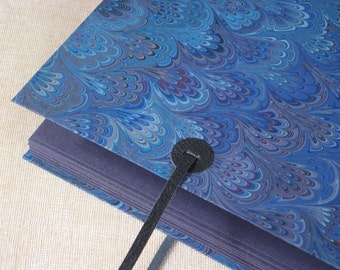 Photo Album - Leather and Marbled Paper