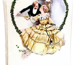 Vintage Decoupage Prints, Hazel Pearson, Victorian Dancing Couple,  Victorian Lovers, Colonial Couple, Millicent Prints, Miroir-Mage Prints