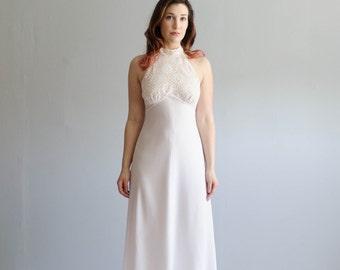70s Maxi Dress - Vintage 1970s Lace Dress - Spin Spin Sugar Dress
