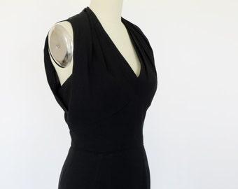 Vintage Black Dress / 1960s Dress Dorothy O'Hara Dress / S