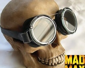 MAD MAX Fury Road - Steampunk Goggles - Post Apocalyptic, Distressed Vintage-Look WWIII Military Style Motorcycle Goggles w/Clear Lenses