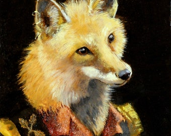 Fox art - Horatio- print 5x7