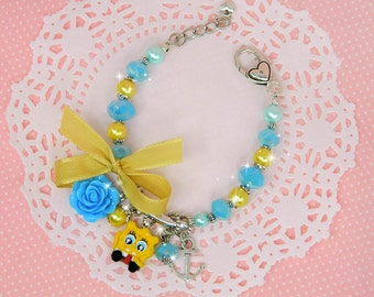 spongebob jewelry, spongebob bracelet, spongebob birthday, spongebob party favor